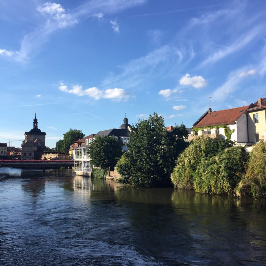 The Franconian city of Bamberg in upper Bavaria.